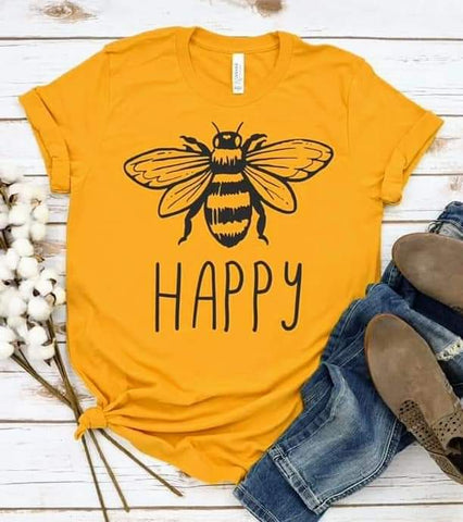 BEE HAPPY - GRAPHIC TEE