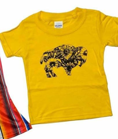 BUFFALO & SUNFLOWERS - GIRLS GRAPHIC TEE