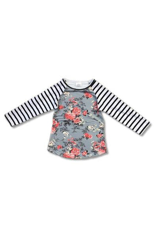 MADELYN - GIRLS FLORAL PRINT TOP