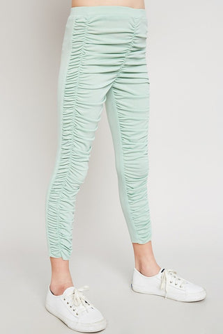 GIRLS RUCHED LEGGINGS - HAG4198