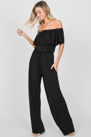 HEM130 - OFF SHOULDER JUMPSUIT