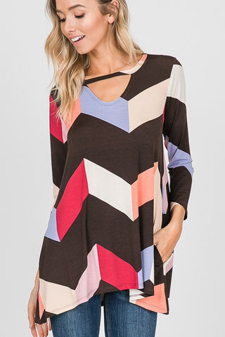 HEM140 - MULTI COLORBLOCK TOP