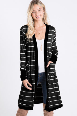HEM152 - STRIPED CARDIGAN