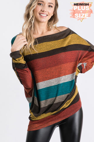 HEM154 - CURVY STRIPED TUNIC