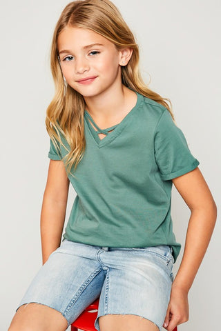 GIRLS BASIC TEE - HG5286