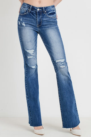 LEX - DISTRESSED BOOTCUT JEANS