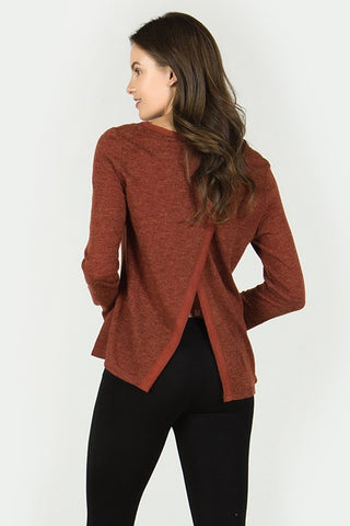 RHEA - RUST LONG SLEEVE TOP