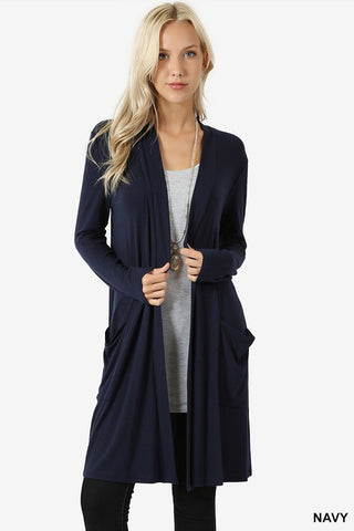 CARDIGAN LONG SLEEVE W/POCKET - ZERC-1440P