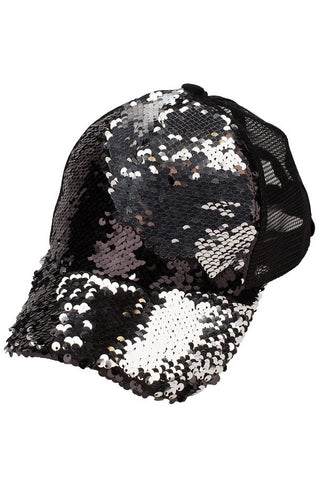 SEQUIN BALL CAP - C723