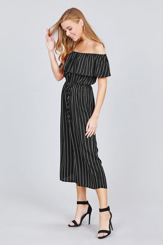 BRYN - STRIPPED JUMPSUIT