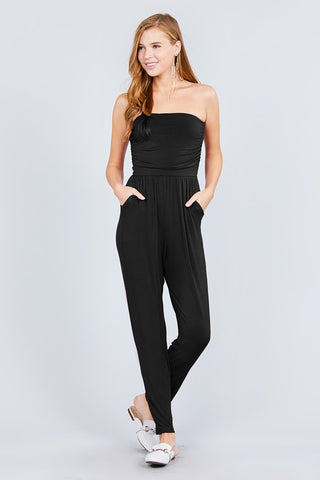 DOVE - STRAPLESS JUMPSUIT