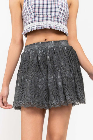 POL20 - LACE MINI SKIRT