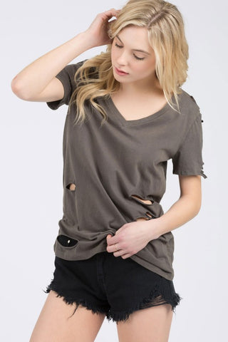 POL34 - DISTRESSED TEE