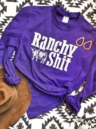 RANCHY SHIT - L/S GRAPHIC TEE
