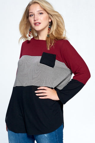 SANA - CURVY STRIPE TOP