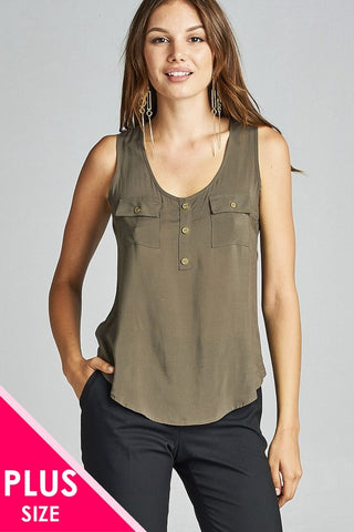 NELL - CURVY TANK WITH POCKET