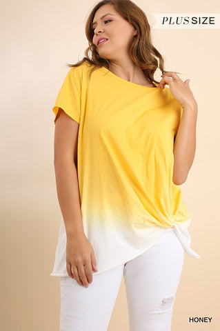 SHORT SLEEVE OMBRE TOP - UMWR7158