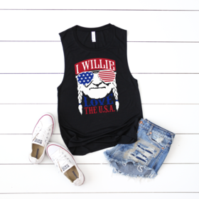 I WILLIE LOVE THE USA - GRAPHIC TANK