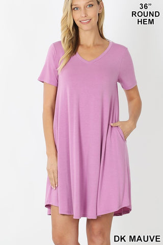 "ZE11 - VNECK 36"" DRESS"
