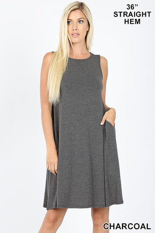 ZE15 - SLEEVELESS FLARED DRESS