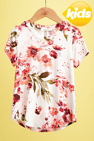 KEVA - GIRLS FLORAL TEE