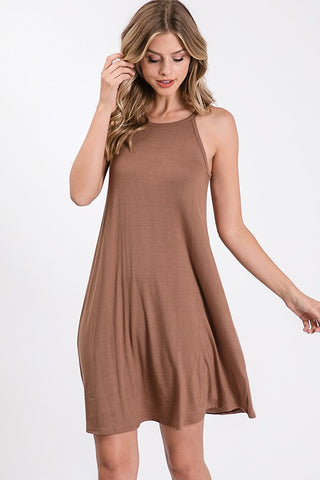 CADO - BASIC HALTER DRESS