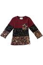 DEW107 - GIRLS LEOPARD BLOCK TOP