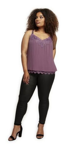 ELIZA - CURVY PLEATED CAMI