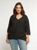 DOTTIE - CURVY BLACK DOT BLOUSE