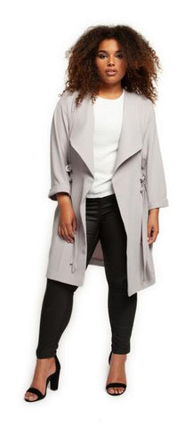 HILLARY - CURVY DUSTER COAT