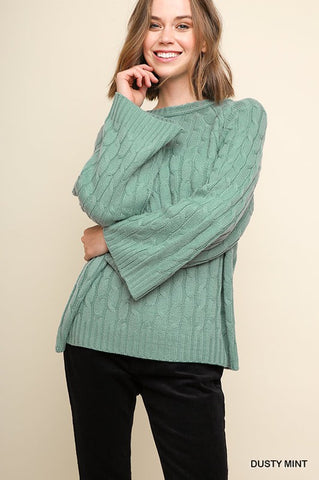 DUSTY - CABLE KNIT SWEATER