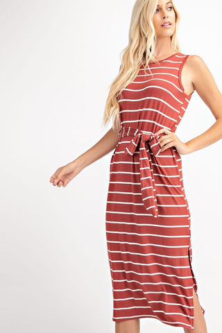QUINN - STRIPPED DRESS