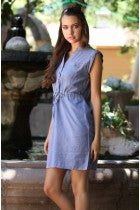 BETH - DENIM BUTTON DRESS