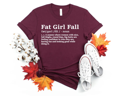 FAT GIRL FALL - GRAPHIC TEE