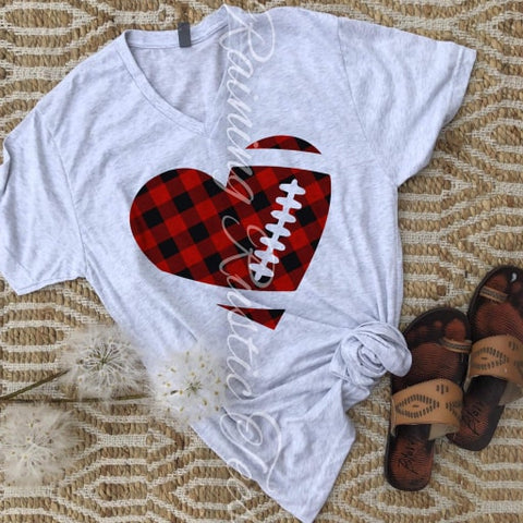 HEART FOOTBALL - GRAPHIC TEE