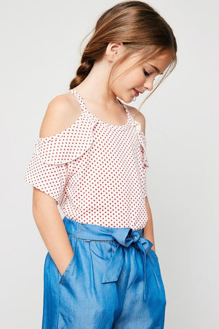 GIRLS DOT TUNIC TOP - HDG4207