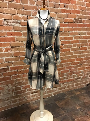 CHARMI - PLAID SHIRTDRESS