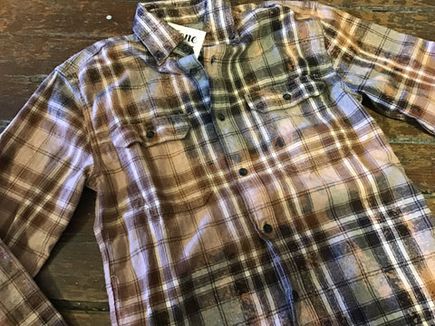 BOSS - GRAY DISTRESSED FLANNEL