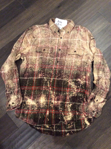 FARMER BROWN FLANNEL - SPRAYED