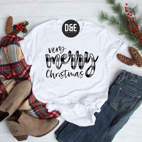 MERRY CHRISTMAS WHITE TEE