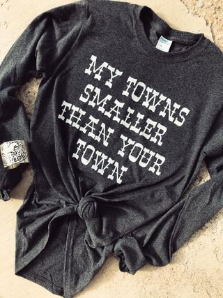 MY TOWNS SMALLER - GRAPHIC L/S TEE