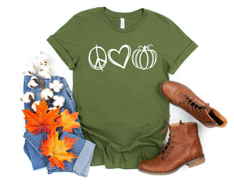 PEACE LOVE PUMPKINS - GRAPHIC TEE
