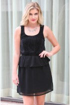 KAREN - LACE PEPLUM DRESS