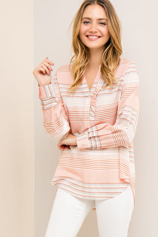 JOCELYN - STRIPED BUTTON DOWN SHIRT