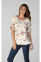 VAL - SHORT BELL SLEEVE TOP