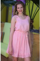APRIL - PINK CHIFFON DRESS