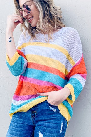LIB - MULTI STRIPE SWEATER