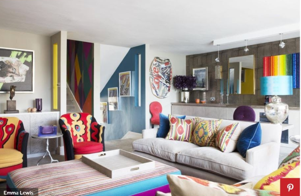 POP PLEASE Rainbow colors rule in this bold Chelsea apartment by Kelling Designs. Photo: Emma Lewis