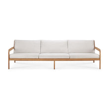 Load image into Gallery viewer, Teak Jack outdoor sofa - 3 seater - off white