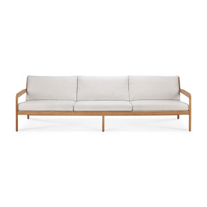 Teak Jack outdoor sofa - 3 seater - off white